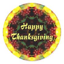 Harvest Kaleidoscope Thanksgiving Classic Round Sticker