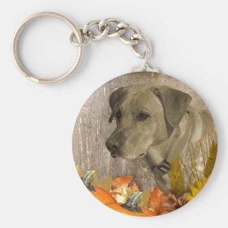 Harvest Labrador Retriever Keychain