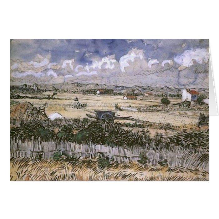 Harvest Landscape, Vincent van Gogh Card
