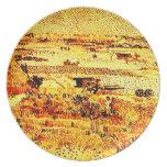 Harvest Landscape, Vincent van Gogh Harvest Lands Plates
