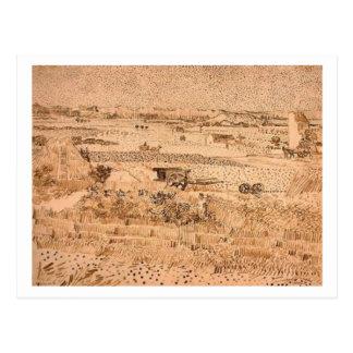 Harvest Landscape, Vincent van Gogh Postcards
