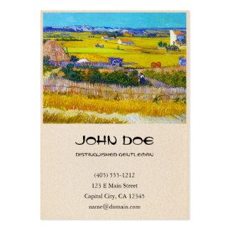Harvest Landscape with Blue Cart Vincent Van Gogh Business Card Templates