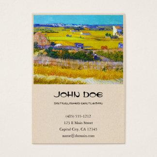 Harvest Landscape with Blue Cart Vincent Van Gogh Business Card