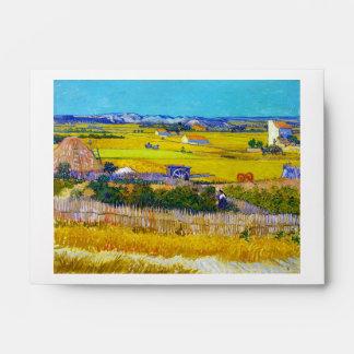 Harvest Landscape with Blue Cart Vincent Van Gogh Envelope