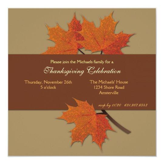 Harvest Leaves Invitation