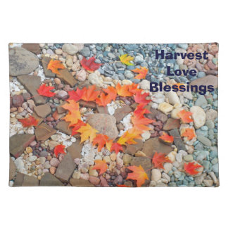 Harvest Love Blessings place mats custom Heart