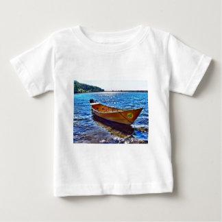 Harvest Moon Boat on Grand Manan Island Baby T-Shirt