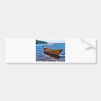 Harvest Moon Boat on Grand Manan Island Bumper Sticker