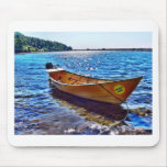 Harvest Moon Boat on Grand Manan Island Mouse Pad