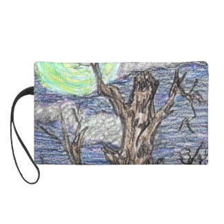 Harvest Moon by Wendy C Allen Wristlet Purses