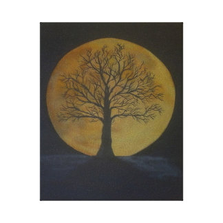Harvest Moon Gallery Wrapped Canvas