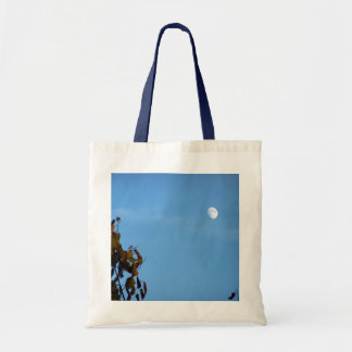 Harvest Moon In October Canvas Bags