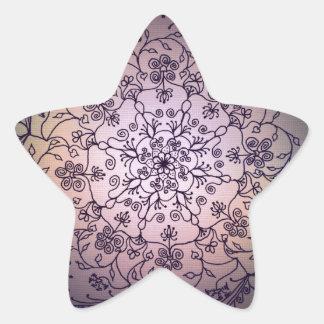 Harvest Moon Mandala - Fall Sky Star Sticker