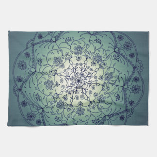 Harvest Moon Mandala - Twilight Kitchen Towels