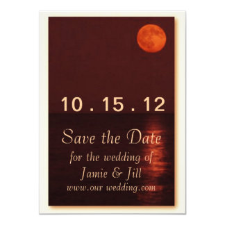 Harvest Moon Save the Date Card Personalized Invite