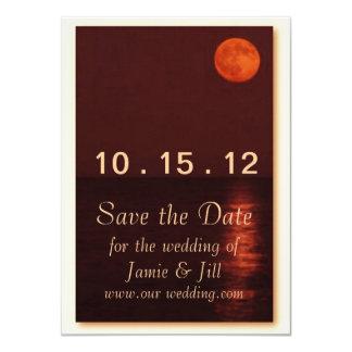 "Harvest Moon Save the Date Card 4.5"" X 6.25"" Invitation Card"