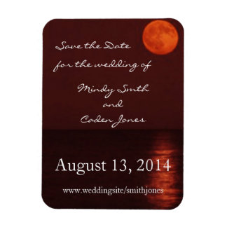 Harvest Moon Save the Date Rectangle Magnet