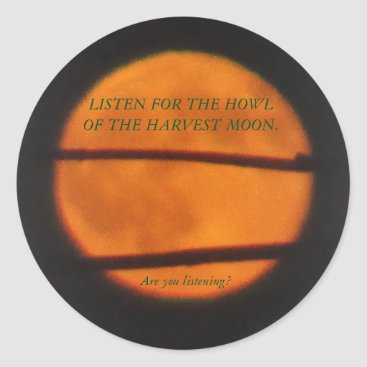 Halloween Themed Harvest Moon Stickers - Prairie Mile Series