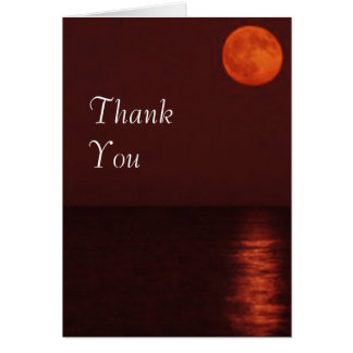 Harvest Moon Thank You Greeting Card