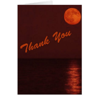 Harvest Moon Thank You Notes Greeting Card