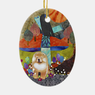 HARVEST MOONDANCE chow Ornament