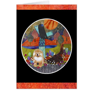HARVEST MOONDANCE chow Stationery Note Card