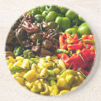 Harvest of Chilies Coaster