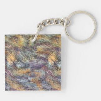 Harvest Of Gold Double-Sided Square Acrylic Keychain