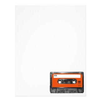 Harvest Orange Cassette Custom Letterhead
