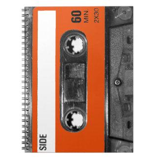 Harvest Orange Cassette Spiral Notebook