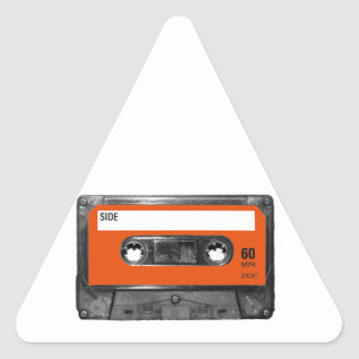 Harvest Orange Cassette Triangle Sticker