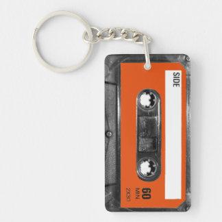 Harvest Orange Label Cassette Double-Sided Rectangular Acrylic Keychain