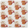 Harvest Orange Sunflower Watering Cans Fabric