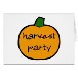 Harvest Party Card