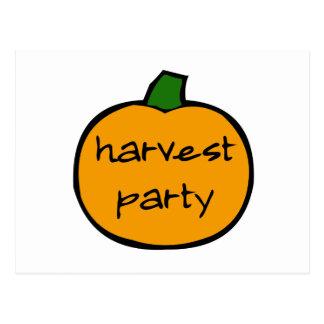 Harvest Party Postcard