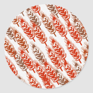 harvest pattern with wheat classic round sticker
