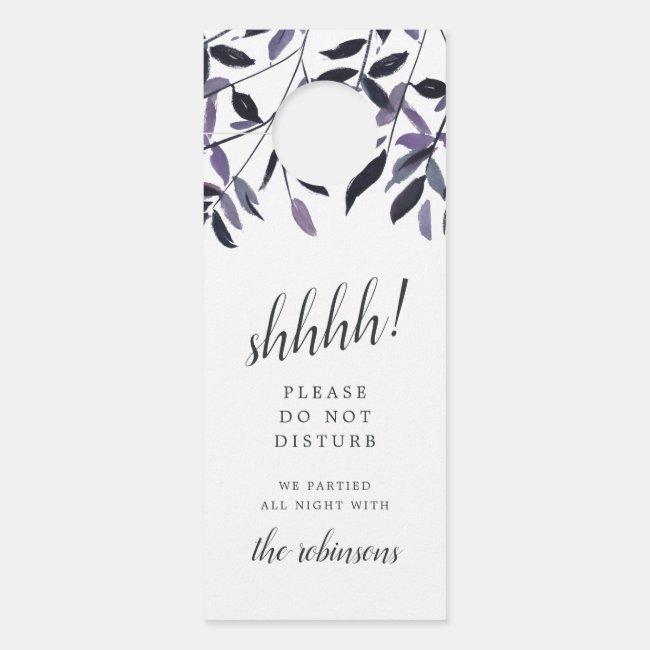 Harvest Plum Wedding Welcome/Do Not Disturb Door Hanger