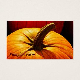 Harvest pumpkin - farm business card