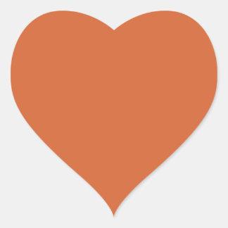 Harvest Pumpkin Heart Sticker