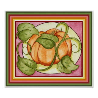 Harvest Pumpkin Print