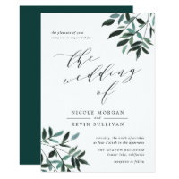 Harvest Sage | Watercolor Wedding Invitation