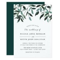 Harvest Sage Wedding Invitation