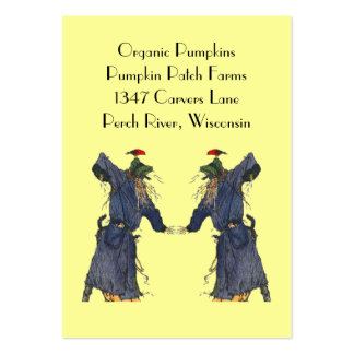 HARVEST SCARECROWS BASKET TAGS ~ GIFT TAG CARDS LARGE BUSINESS CARDS (Pack OF 100)