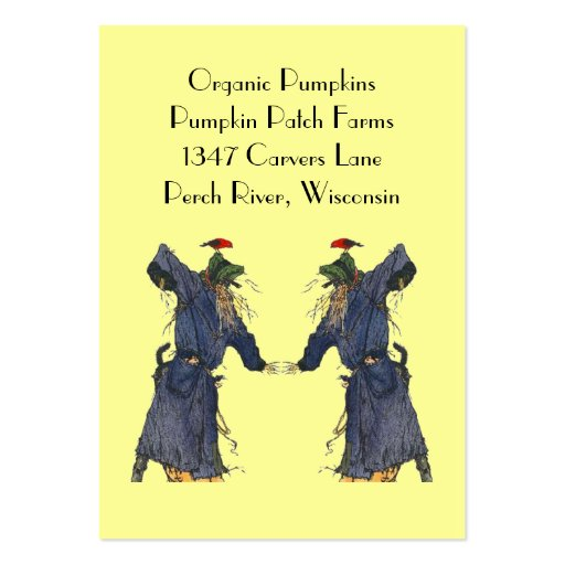 Harvest scarecrows basket tags gift tag cards business card template