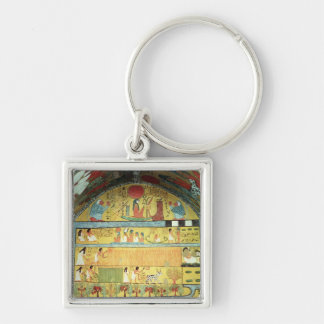 Harvest Scene on the East Wall Keychain