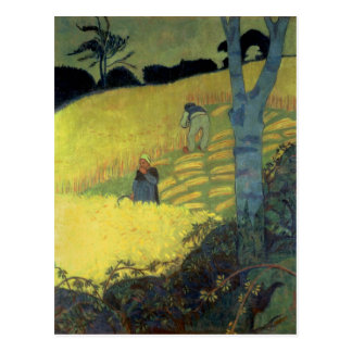 Harvest Scene Postcard