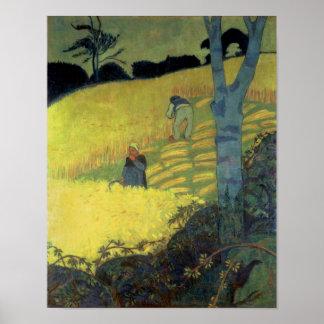 Harvest Scene Poster