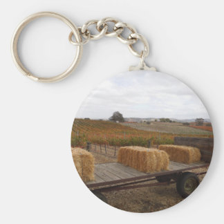 Harvest Season at Doce Robles, Paso Robles Keychain