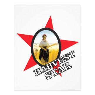 harvest star red letterhead