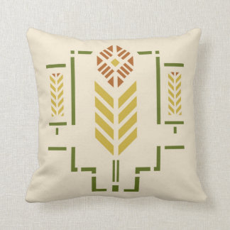 'Harvest' Stencil Throw Pillow